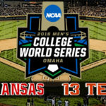 NCAA College World Series Game #3: #5 Arkansas vs #13 Texas