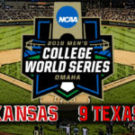 NCAA College World Series Game #8: #5 Arkansas vs #9 Texas Tech