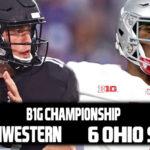B1G Championship: 21 Northwestern vs 6 Ohio State