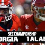 SEC Championship: 4 Georgia vs 1 Alabama