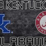MBB: 13 Kentucky at Alabama